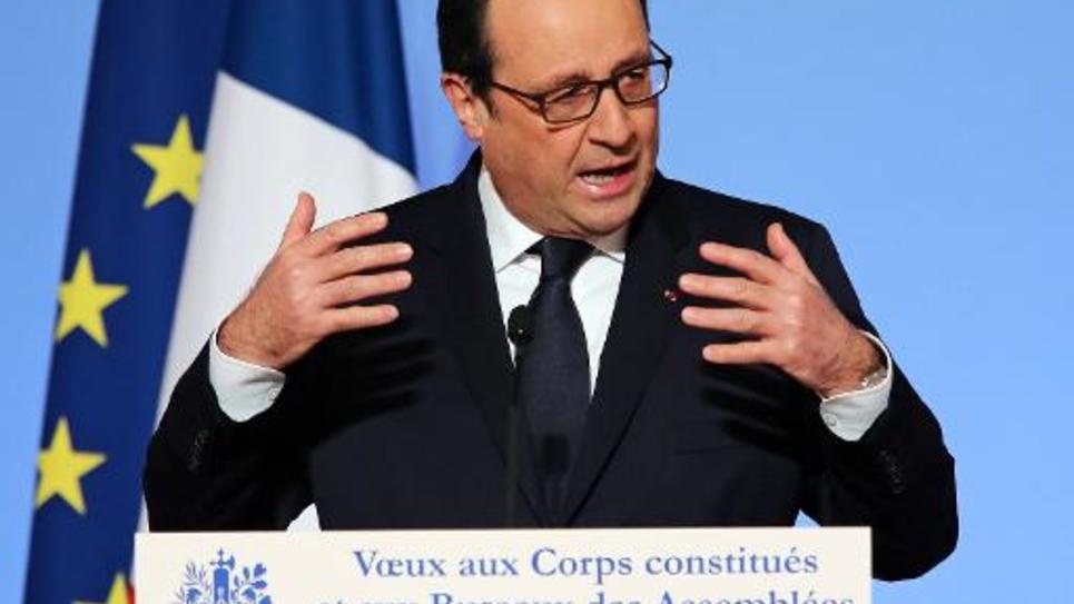 Le président français François Hollande, le 20 janvier 2015 à l'Elysée