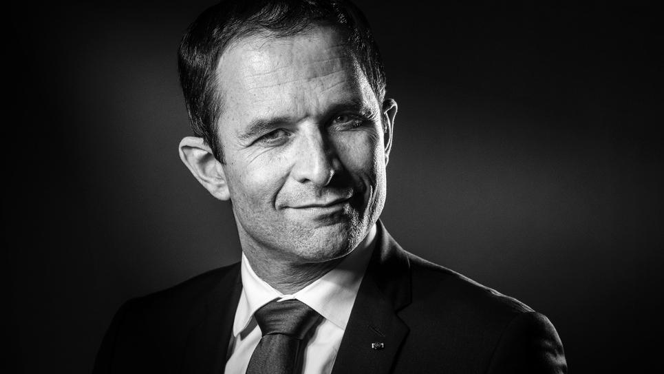 Benoît Hamon, candidat à la primaire organisée par le PS, le 15 décembre 2016 à Paris