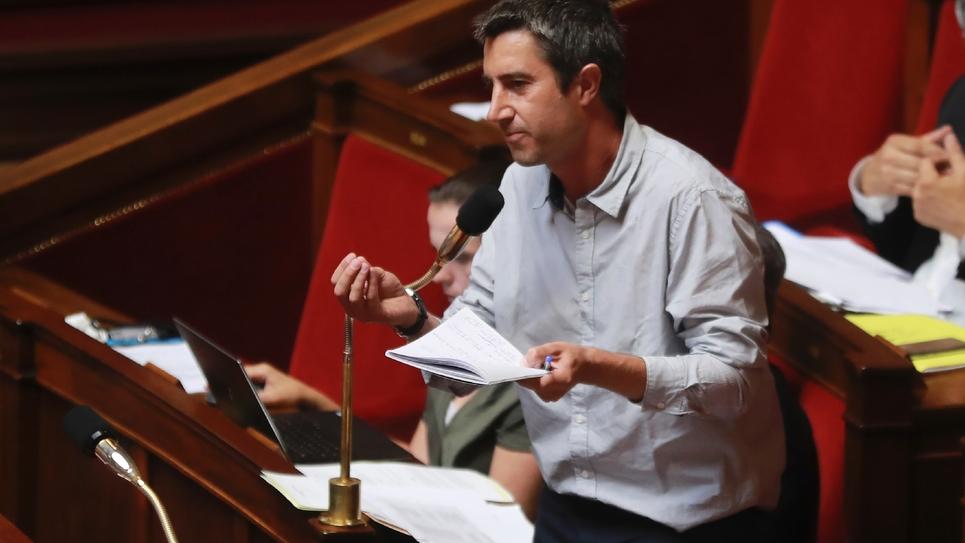 Le député LFI François Ruffin à l'Assemblée nationale, le 26 juin 2017