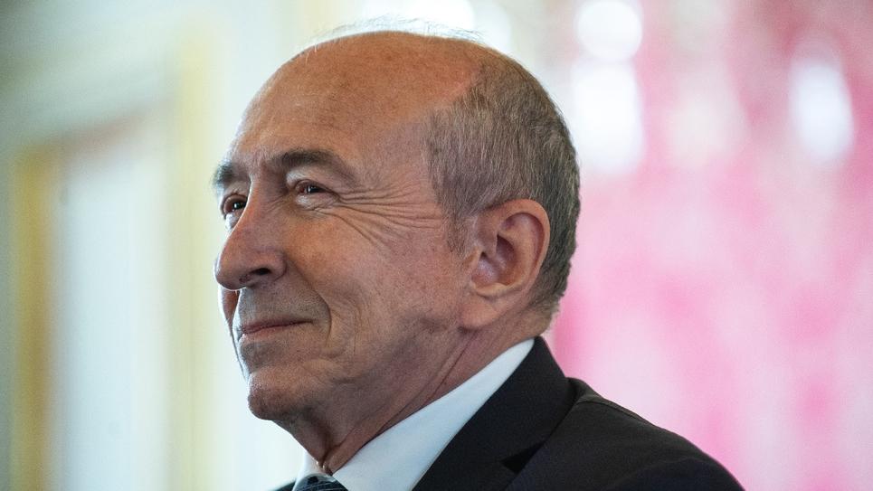 L'ex-ministre de l'Intérieur Gérard Collomb lors d'une conférence de presse, le 17 octobre 2018 à la mairie de Lyon