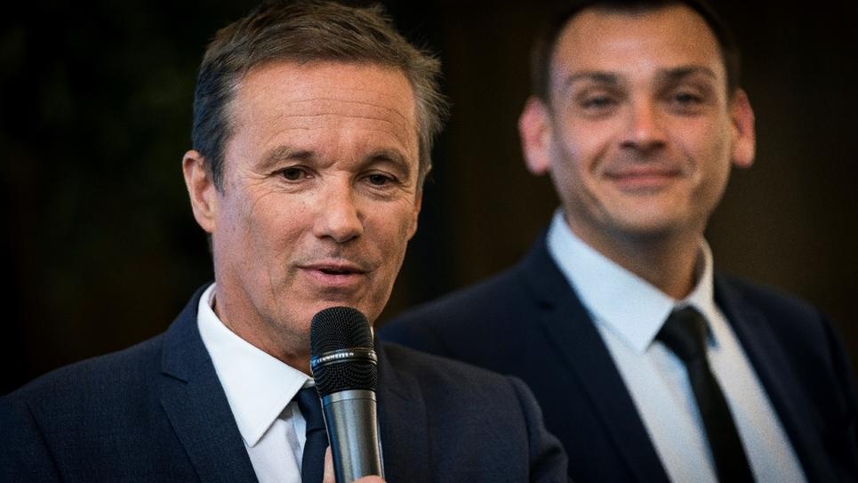 Nicolas Dupont-Aignan et Benjamin Cauchy le 28 mars 2019