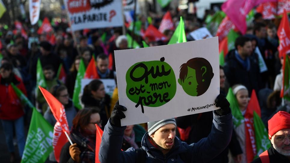 Manifestation des anti-PMA pour toutes les femmes le 19 janvier 2020 à Paris