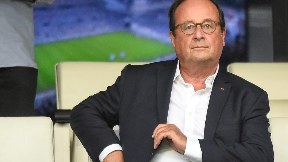 François Hollande le 13 août 2018 au stade Vélodrome à Marseille