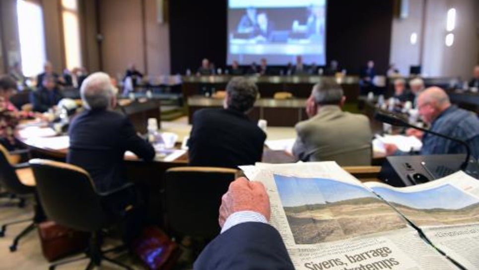 Les conseillers généraux du Tarn réunis le 31 octobre 2014 à Albi