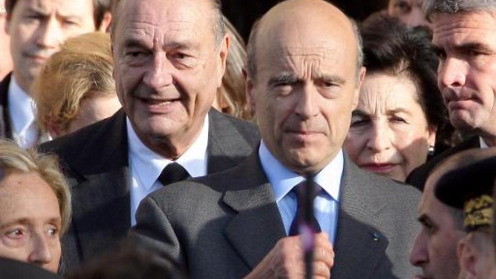 Jacques Chirac et Alain Juppé le 22 octobre 2008 à Bordeaux