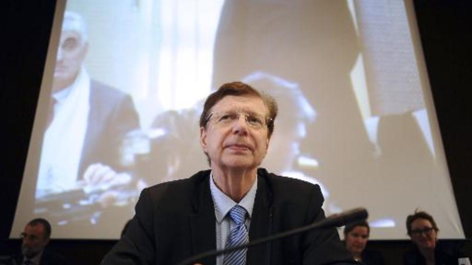 Thierry Carcenac, le président du conseil général du Tarn, lors d'une réunion sur le barrage de Sivens à Albi, le 6 mars 2015