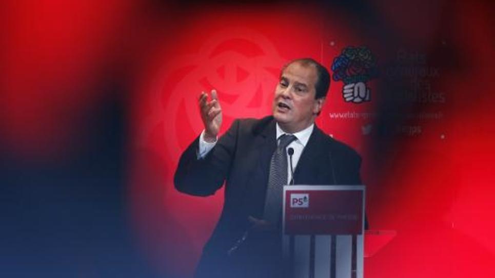 Jean-Christophe Cambadélis, premier secrétaire du Parti socialiste, le 12 octobre 2014, à Paris