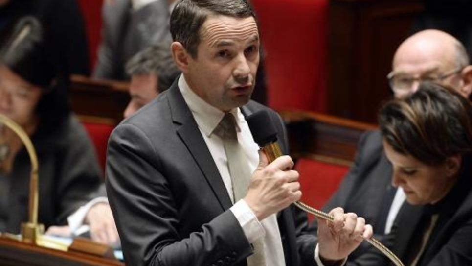 Le secrétaire d'Etat à la simplification Thierry Mandon le 29 octobre 2014 à l'Assemblée nationale à Paris