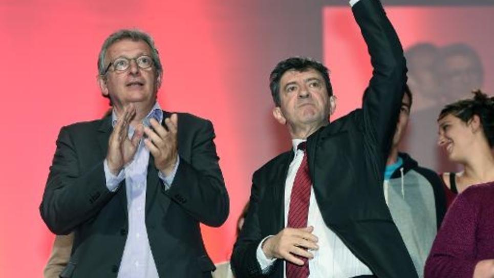 Pierre Laurent et Jean-Luc Melenchon en meeting le 20 mai 2014 à Toulouse
