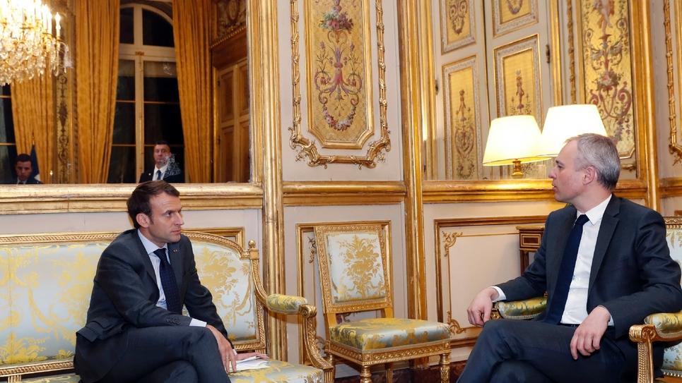 Emmanuel Macron et François de Rugy à l'Elysée le 20 novembre 2017