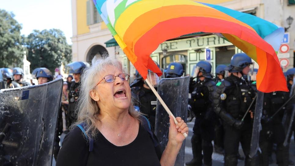 Geneviève Legay lors de la manifestation des gilets jaunes, le 23 mars 2019 à Nice