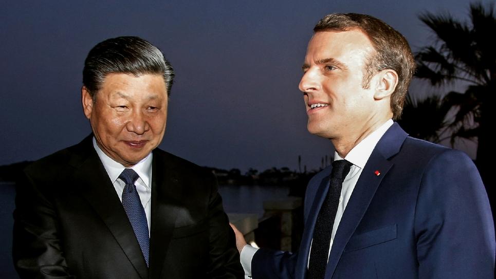 Emmanuel Macron et son homologue chinois Xi Jinping, le 24 mars 2019 à Nice