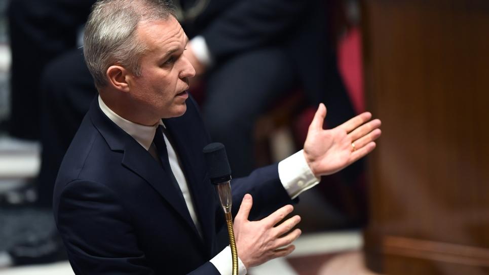 Le ministre de la Transition Ecologique François de Rugy à l'Assemblée nationale, le 14 novembre 2018