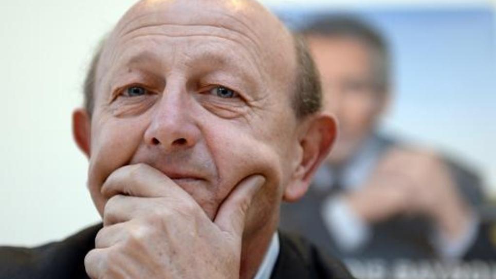 L'ancien vert et ex-MoDem Jean-Luc Bennahmias lors d'une conférence de presse à Marseille le 18 novembre 2013