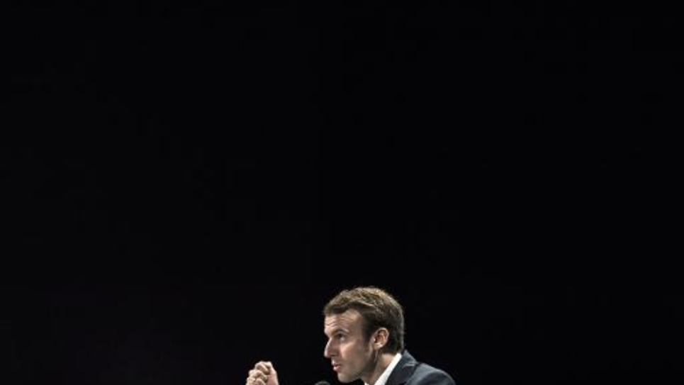 Le ministre de l'Economie, Emmanuel Macron, le 9 octobre 2014 à Lyon
