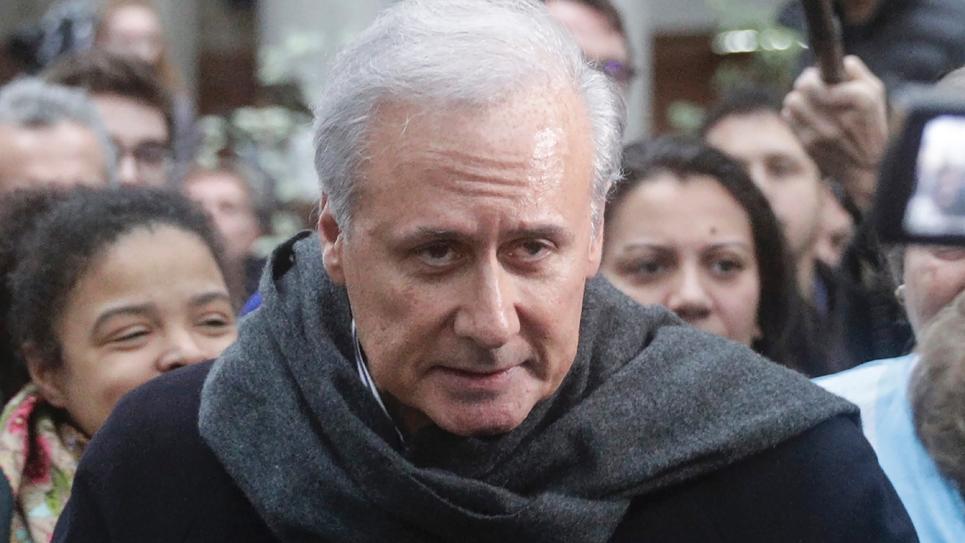 Georges Tron après son acquittement le 15 novembre 2018 à Bobigny