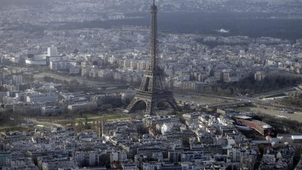 Une vue aérienne de Paris, le 11 janvier 2015