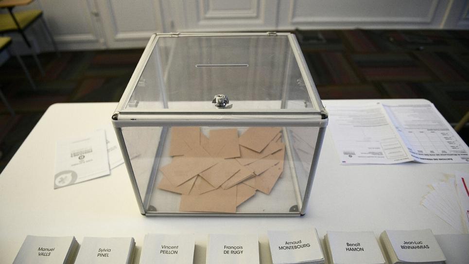 Des bulletins de vote pour la primaire organisée par le PS le 16 janvier 2017 à Paris