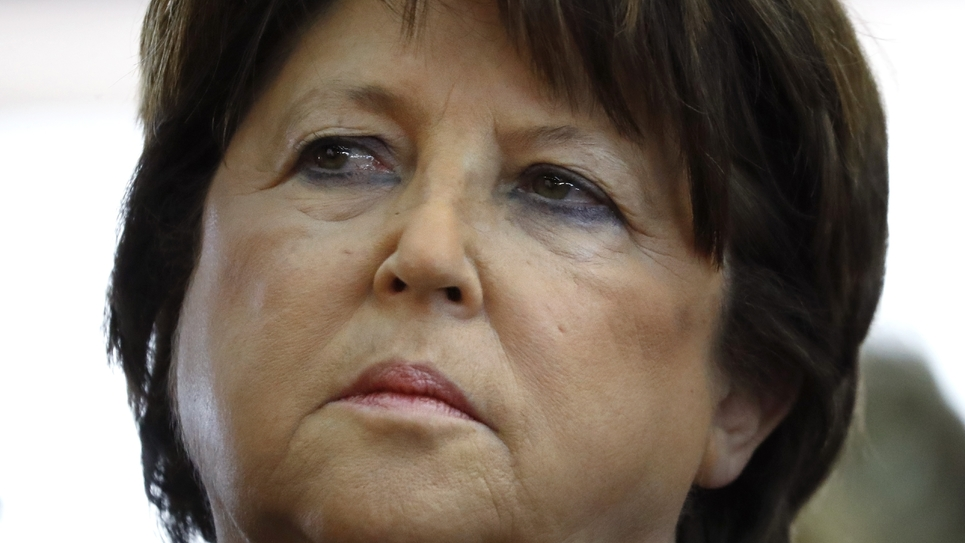 Martine Aubry, à Bondy (Seine-Saint-Denis), le 26 novembre 2016