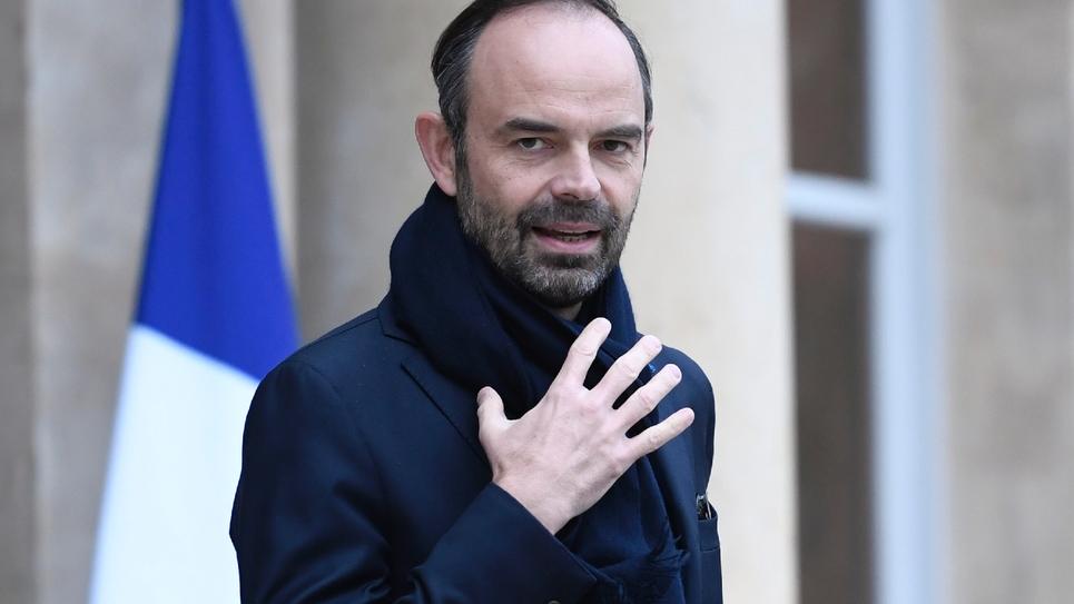Le Premier ministre français Edouard Philippe à Paris, le 12 janvier 2018