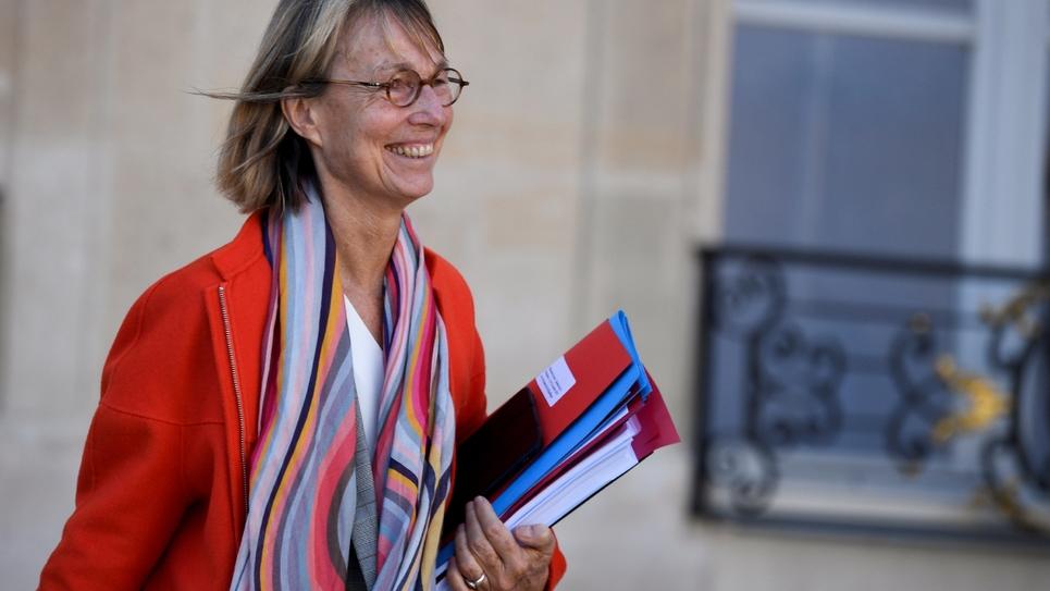 Françoise Nyssen sort de l'Elysée, le 10 octobre 2018 à Paris