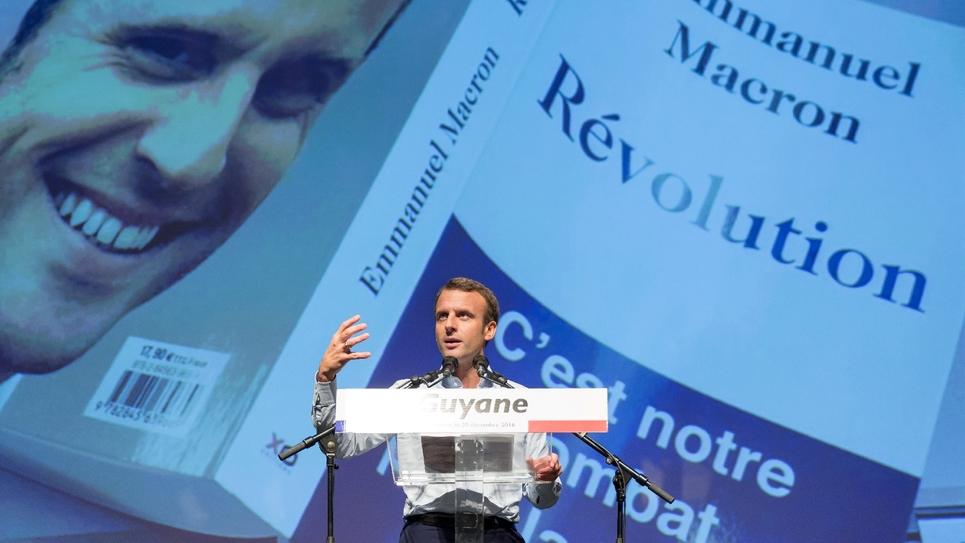 Emmanuel Macron, candidat à la présidentielle et fondateur du mouvement politique En Marche! à Remire-Montjoly en Guyane, le 20 décembre 2016