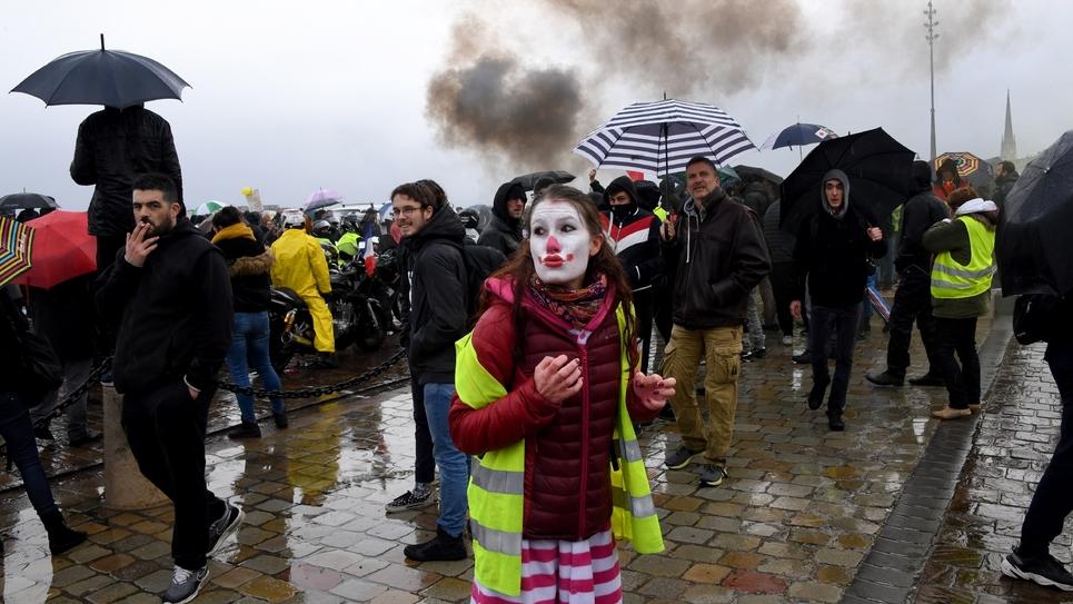 """Manifestations de """"gilets jaunes"""", pour le 1er anniversaire du mouvement, le 19 novembre à Bordeaux"""