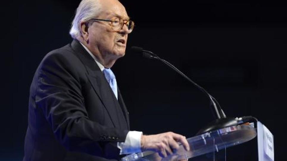 Le président d'honneur du FN, Jean-Marie Le Pen, à Marseille, le 20 mai 2014