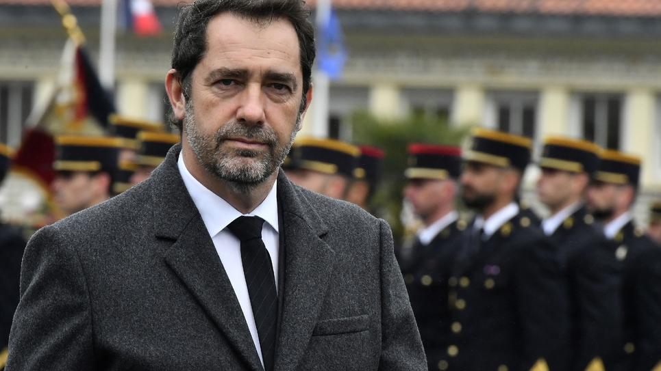 Le ministre de l'Intérieur Christophe Castaner, à Saint-Astier, le 15 mars 2019