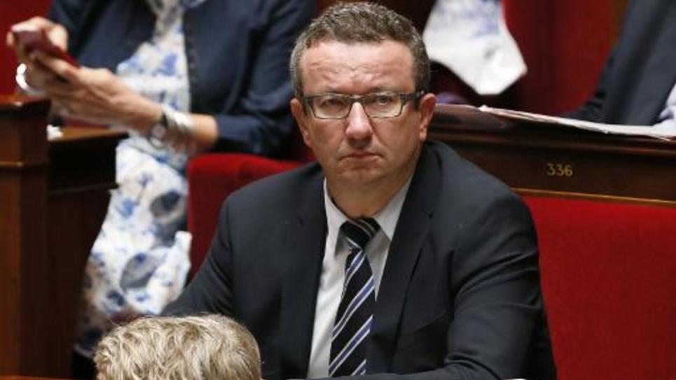 """Le député """"frondeur"""" socialiste Christian Paul, le 16 septembre 2014 à l'Assemblée nationale"""