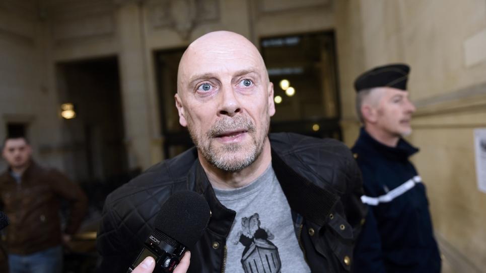 L'essayiste d'extrême droite Alain Soral arrive au tribunal de Paris, le 12 mars 2015