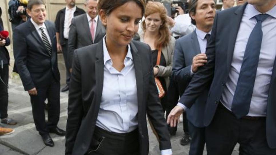Le nouvelle ministre de l'Education Najat Vallaud-Belkacem le 27 août 2014 à Paris