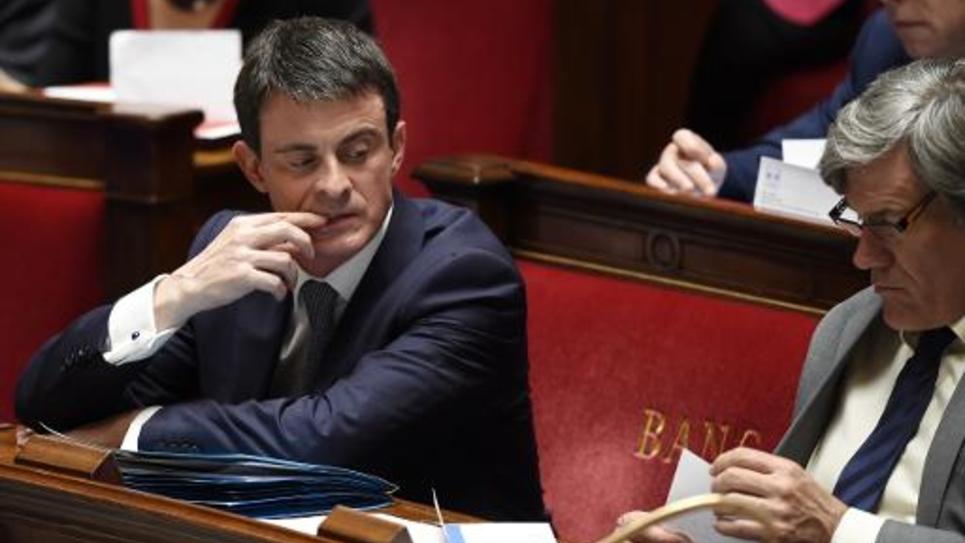 Le Premier ministre Manuel Valls, le 14 avril 2015 à l'Assemblée nationale à Paris