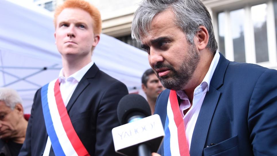 Adrien Quatennens et  Alexis Corbière en octobre 2017 à Paris