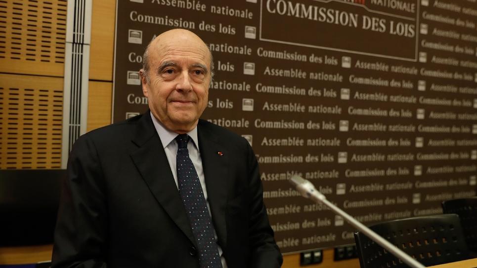 Alain Juppé avant son audition devant les députés, le 21 févier 2019 à l'Assemblée nationale, à Paris