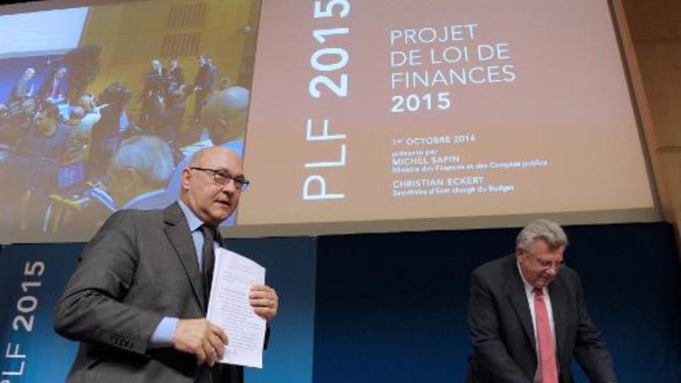 Présentation du projet de budget 2015, le 1er octobre 2014 au ministère de l'Economie et des Finances à Paris
