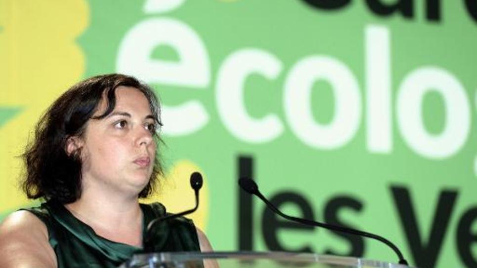 Emmanuelle Cosse, la secrétaire nationale d'Europe Écologie-Les Verts, le 23 août 2014 à Pessac