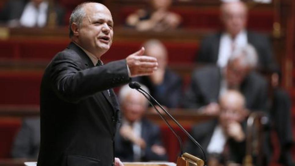 Bruno Le Roux, président du groupe PS, le 16 septembre 2014 à l'Assemblée nationale à Paris