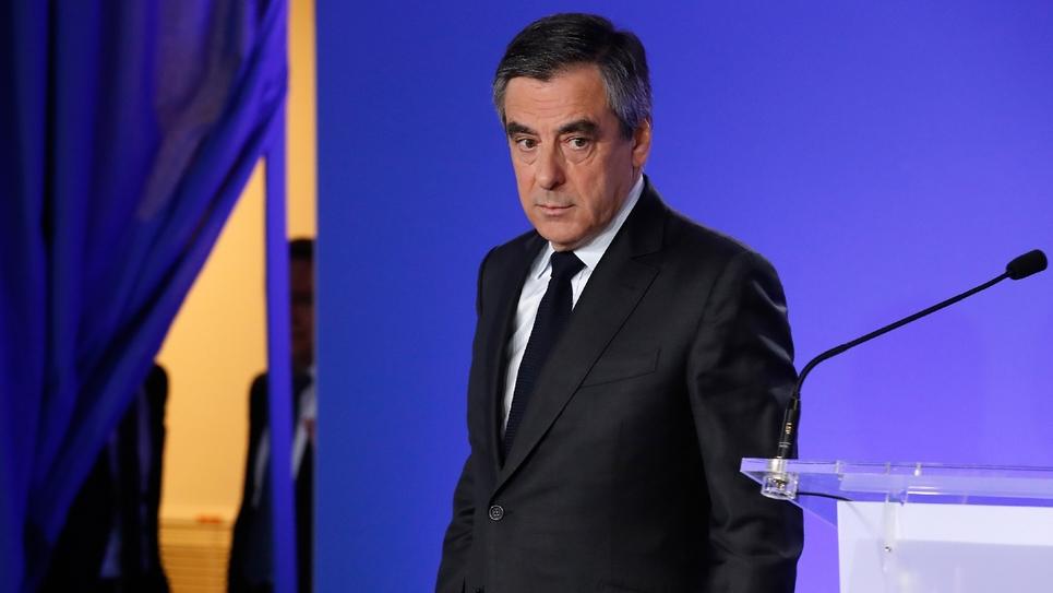 L'ex-candidat de la droite à l'Elysée François Fillon, le 21 avril 2017 à Paris