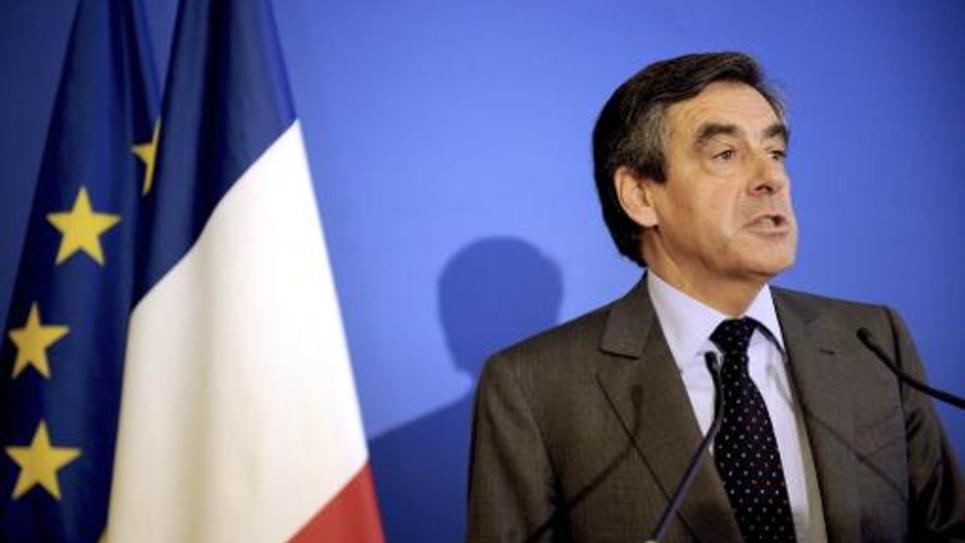 François Fillon lors d'un discours devant des parlementaires le 16 septembre 2014 à Paris