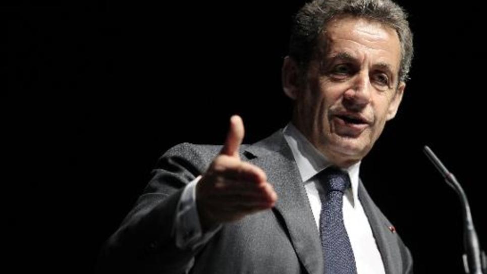 L'ancien président Nicolas Sarkozy lors d'un meeting le 22 avril 2015 à Nice