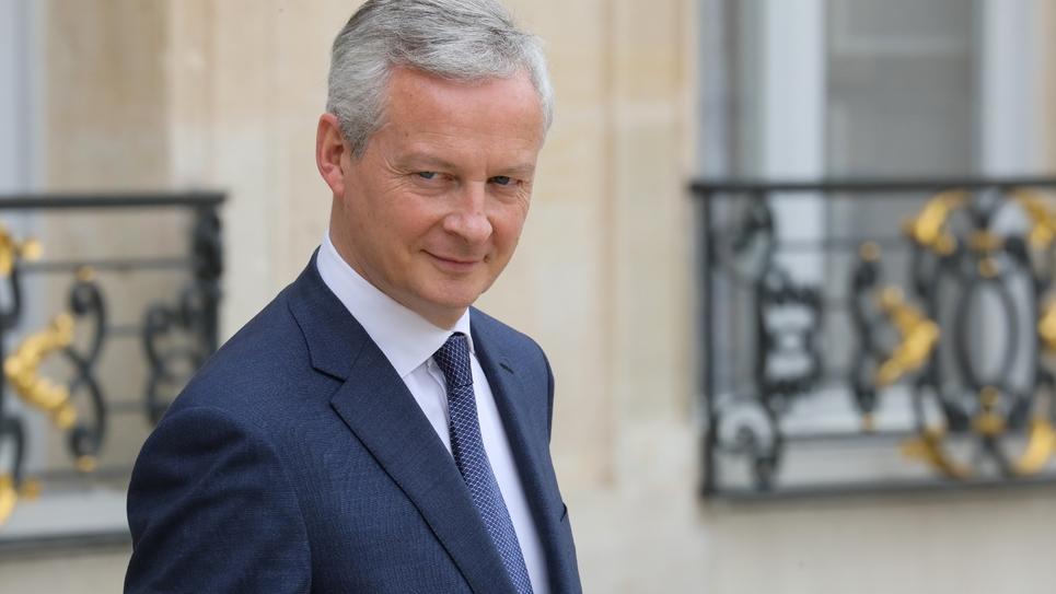 Le ministre des Finances Bruno Le Maire à l'Elysée, le 12 juin 2019 à Paris