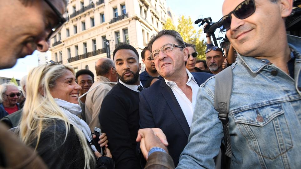 Le leader de La France Insoumise, Jean-Luc Mélenchon, à Marseille le 12 septembre 2017