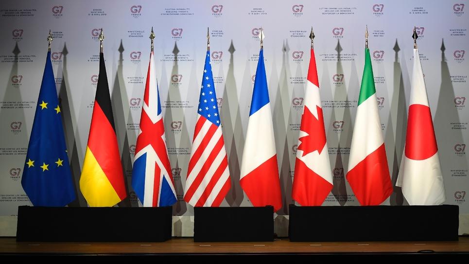 Les drapeaux des pays membres du G7