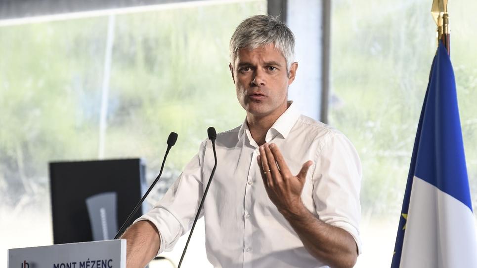 Laurent Wauquiez à Les Etables en Haute-Loire le 26 août 2018.