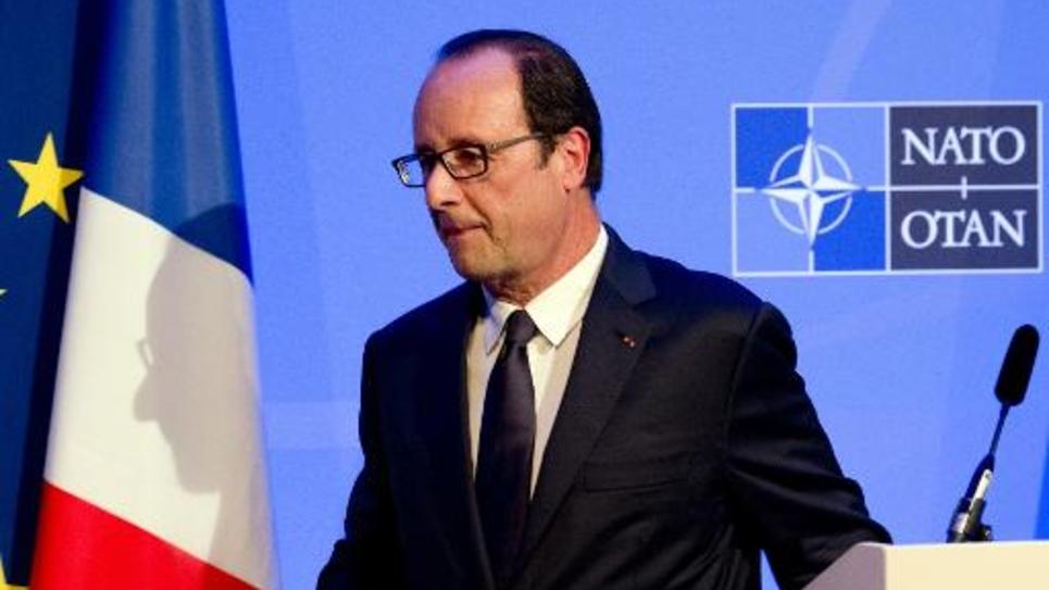 François Hollande le 5 septembre 2014 au sommet de l'Otan à Newport