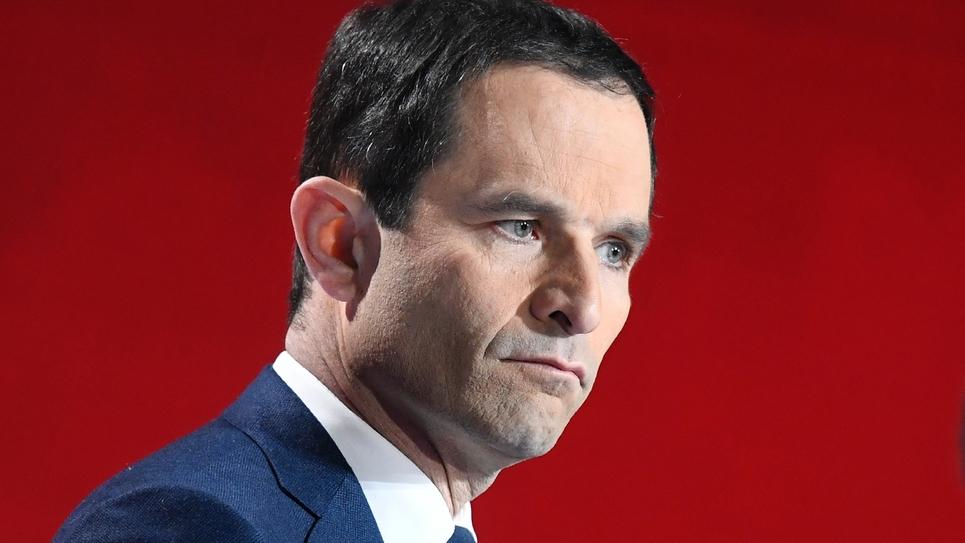 Benoît Hamon, candidat pour la primaire du PS, le 15 janvier 2017 à Paris