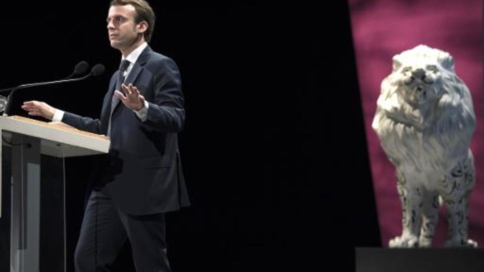 Le ministre de l'Economie, Emmanuel Macron, lors du 69e Congrès des experts comptables organisé à Lyon, le 9 octobre 2014