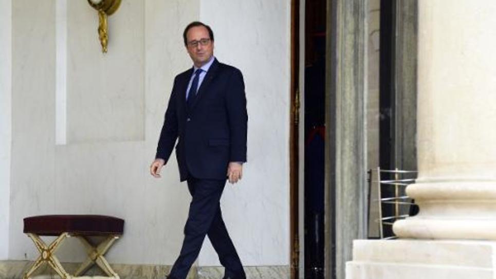 Le président François Hollande à l'Elysée, le 20 novembre 2014 à Paris
