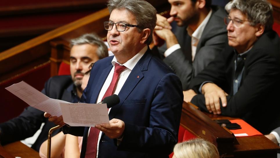 Jean-Luc Mélenchon, le 29 octobre 2019 à l'Assemblée nationale